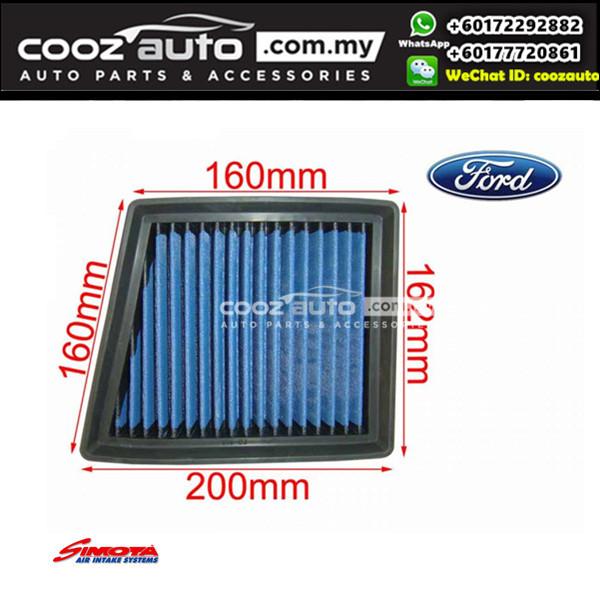 Ford Fiesta VI MK6 1.6L L4  2009-2017 Works Simota Washable Drop In Air Filter