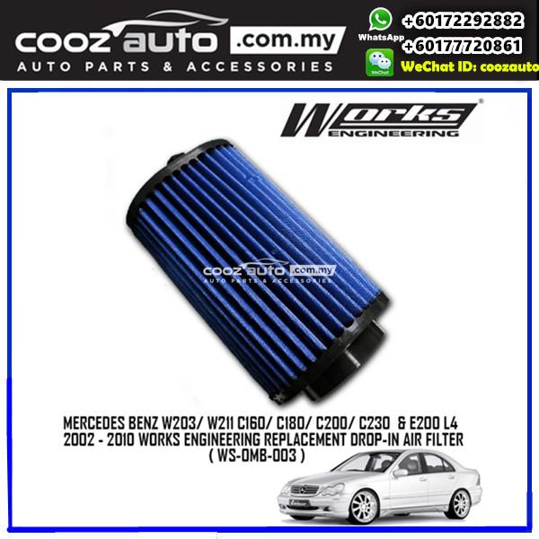 Mercedes Benz W203 W211 E200 2002 - 2010 Works Simota Drop In Air Filter
