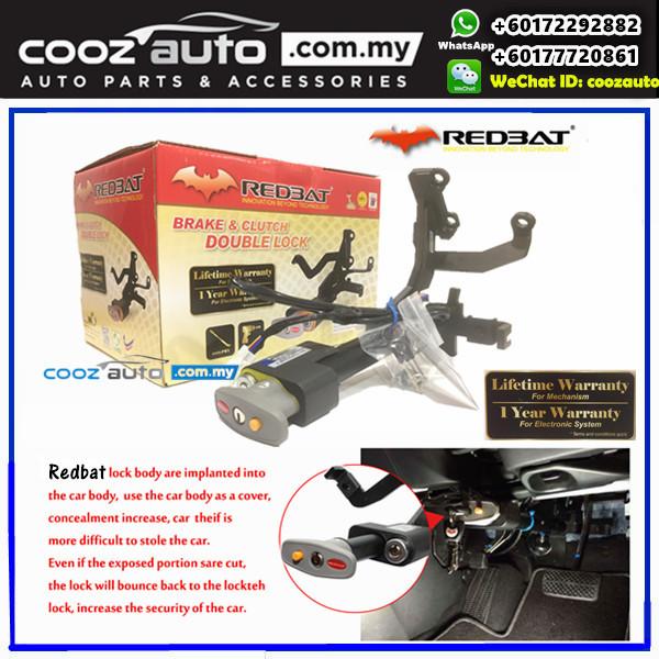 Kia Forte 2010-2013 (Key Start)  Redbat High Security Anti-Theft Double Brake Pedal Lock with Socket Immobilizer