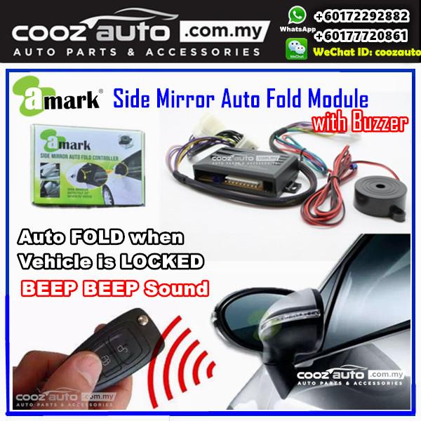 TOYOTA CAMRY 2013-2016 A-MARK Side Mirror Auto Fold Folding Controller Module With Alarm Buzzer