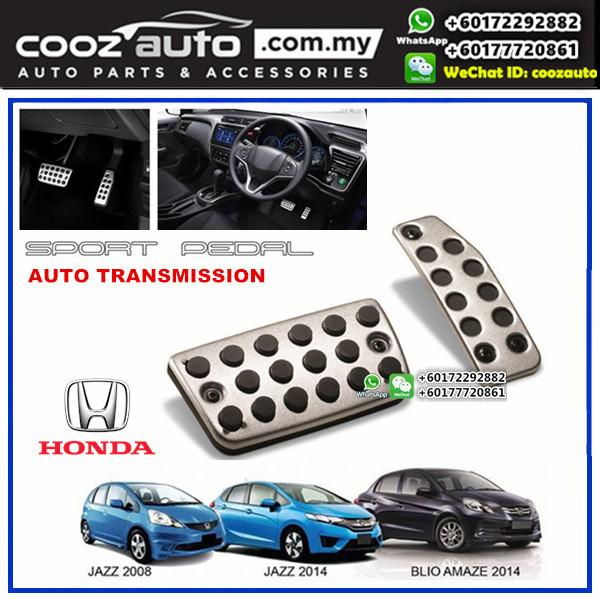 Honda Jazz 2014-2016 Automatic Transmission (AT) Aluminium Auto Sports Foot Pedals