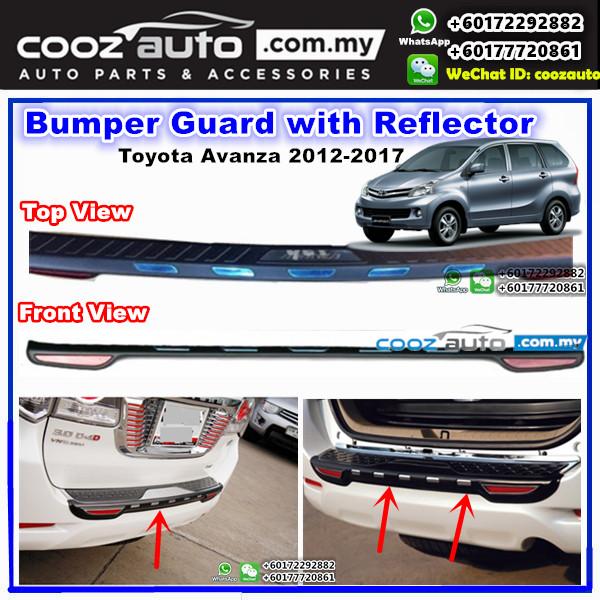 Toyota Avanza 2012-2016 ABS Rear Bumper Guards Protector