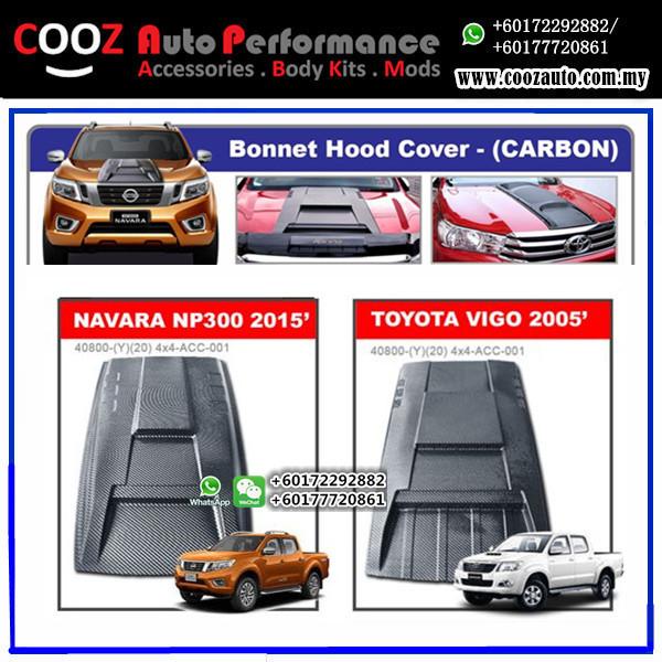 Toyota Hilux Vigo 2006-2013 Engine Hood Cover Air Scoop Bonnet Cover (Carbon)
