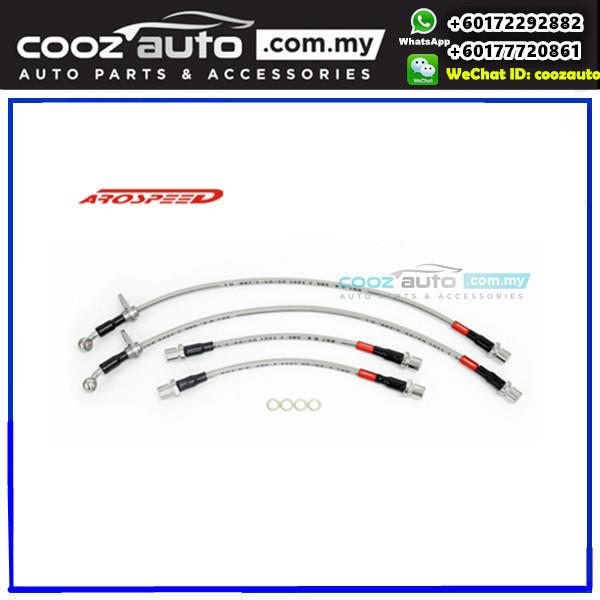 Toyota Avanza 2003-2011 4 disc Arospeed Steel Braided Brake Hose