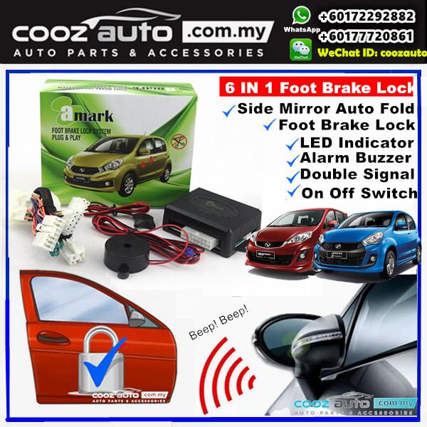 A-Mark Perodua Alza SE 2015-201 6 in 1 Alarm Buzzer + Double Signal + Foot Brake Lock + Auto Folding