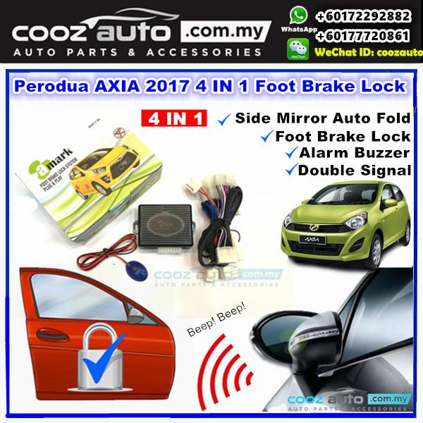 A-Mark Perodua Axia 2017 - 2018 G SPEC 3 in 1 Foot Brake Lock + Auto Folding + LED Indicator