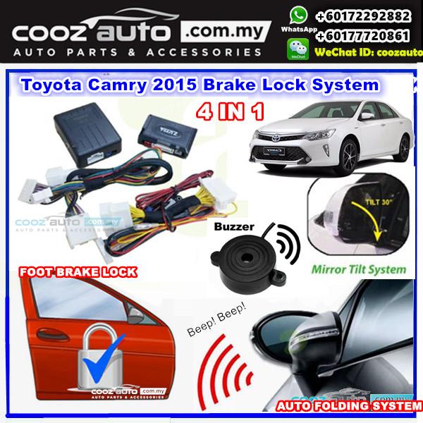 Toyota Camry 2017 A Mark 4 In 1 Foot Brake Lock Side Mirror Auto Fold Module Tilt Reversing Alarm Buzzer
