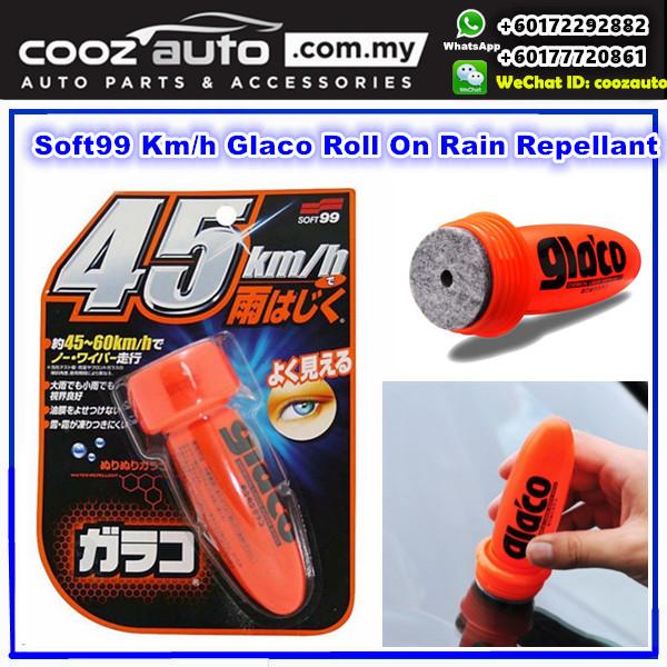 KIA RIO DC 2000-2005  [Package Deal] Bosch Advantage Windshield Wiper Blades with Soft99 Glaco Roll On RAIN REPELLANT