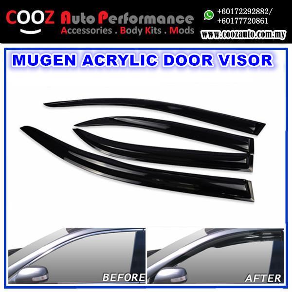 Hyundai Elantra 2012 Mugen Style Anti UV Light Acrylic Door Visor