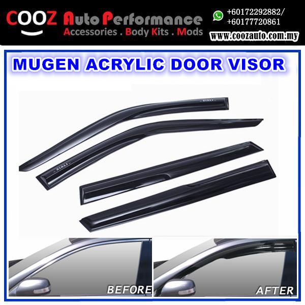 Kia Forte Mugen Style Anti UV Light Acrylic Door Visor