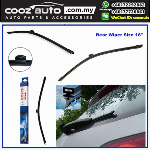 """PORSCHE Macan Macan 95B 02.2014-2016 Bosch Rear Windscreen Flat Wiper Blade 16"""" (400mm)"""