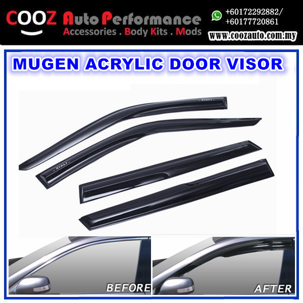 Toyota Harrier Mugen Style Anti UV Light Acrylic Door Visor