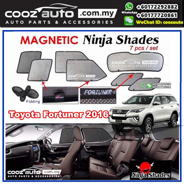 Toyota Fortuner 2016 - 2017 Magnetic Ninja Sun Shade Sunshade (7pcs/set)