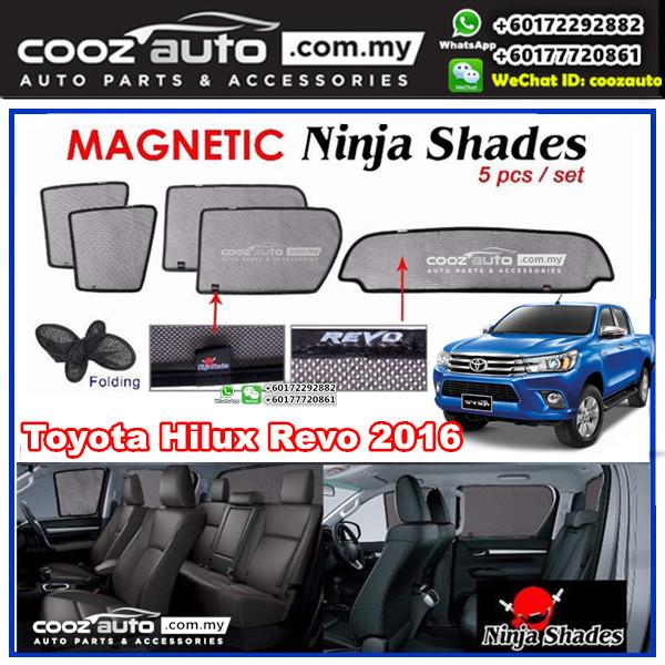 Toyota Hilux Revo 2016 - 2017 Magnetic Ninja Sun Shade Sunshade (5pcs/set)