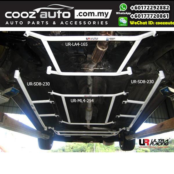Proton Wira Sedan 1.6 / 1.8 Ultra Racing Middle Lower Bar / Middle Member Brace (4 Points)