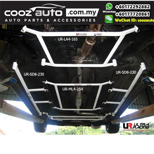 Proton Wira Sedan 1.6 / 1.8 (for Wira 1994-2007 use) Ultra Racing Side Lower Bar / Side Floor Bar (8 Points)