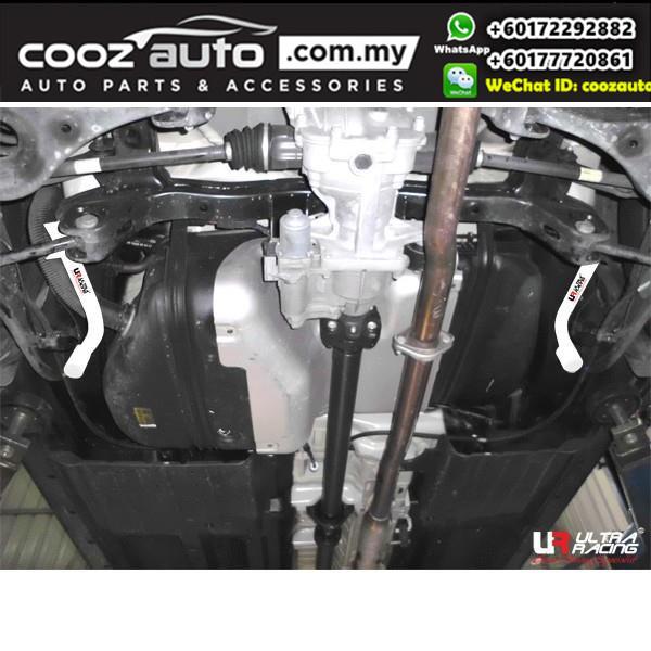 Kia Sportage R Gasolin 2.0 2010 2WD Ultra Racing Rear Lower Bar / Ultra Racing Rear Member Brace (4 Points)