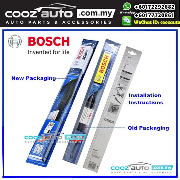 HONDA JAZZ FIT 2001-2007 Bosch Aerofit Frameless Flat Blade Wiper (2pcs/set)
