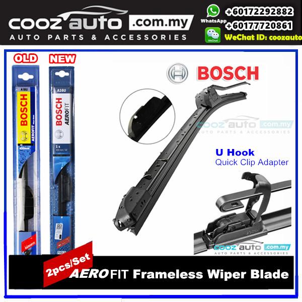 KIA RIO DC 2000-2005 Bosch Aerofit Frameless Flat Blade Wiper (2pcs/set)