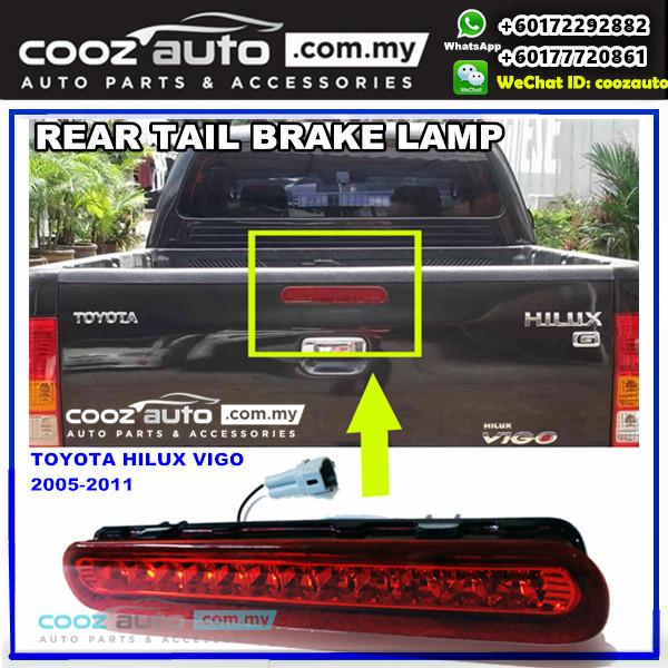 TOYOTA HILUX VIGO MK6 2005-2014 LED Rear Tail Gate Third 3rd Spoiler Brake Light Stop Lamp (Red Lens)
