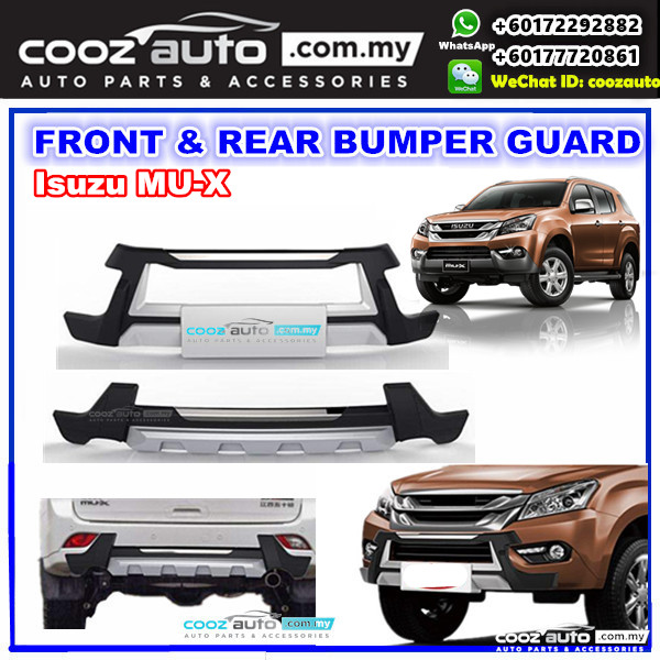 Isuzu Mu X Mux Front Rear Bumper Protector Skid Plate
