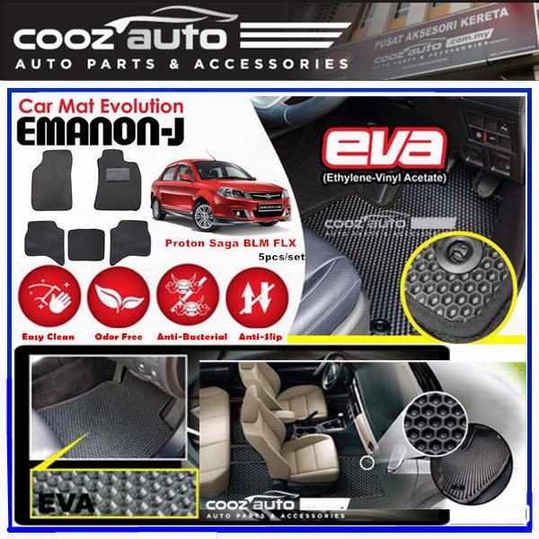 Proton Saga BLM FL FLX 2008-2015 EMANON-J EVA Customized Odor-Free Anti-Bacterial Car Floor Mats Waterproof Carpet
