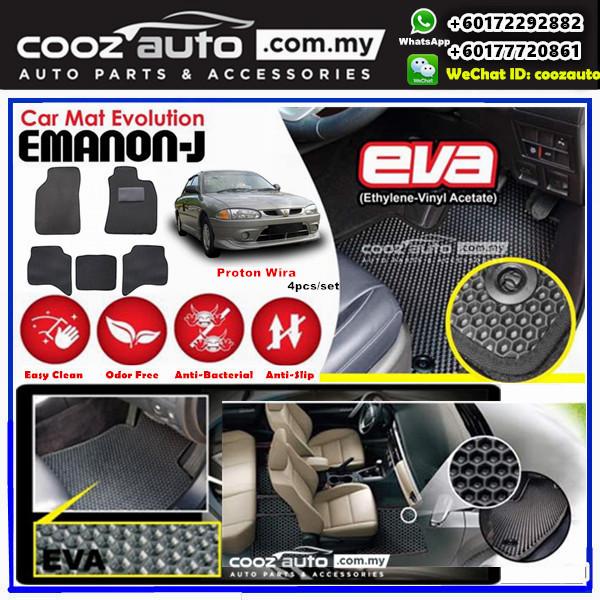 Proton Wira EMANON-J EVA Customized Odor-Free Anti-Bacterial Car Floor Mats Waterproof Carpet