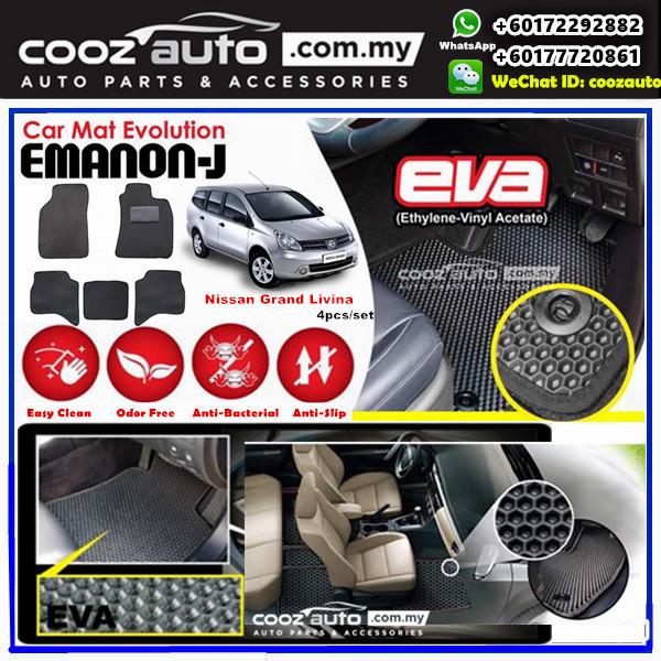 Nissan Livina  EMANON-J EVA Customized Odor-Free Anti-Bacterial Car Floor Mats Waterproof Carpet