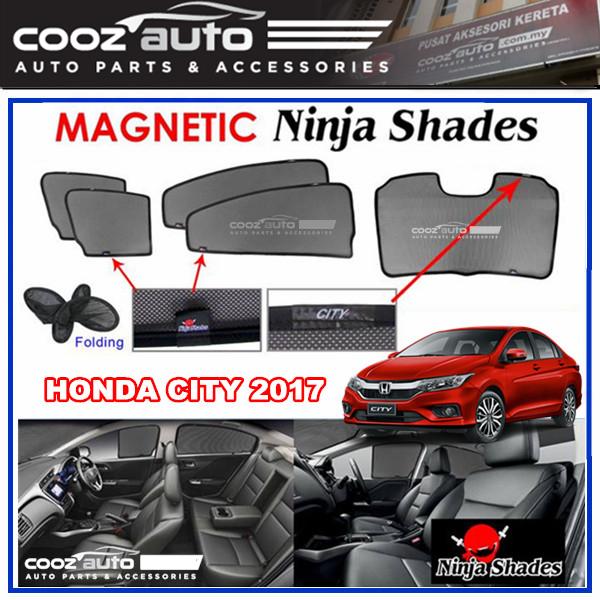 Honda City 2014 - 2019 Magnetic Ninja Sun Shade Sunshade