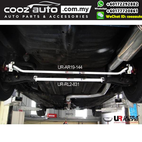 Honda CRX (2nd gen) 1.6 1987 Ultra Racing Rear Lower Bar / Rear Member Brace (2 Points)