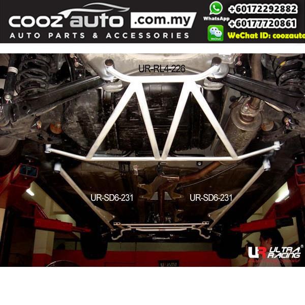 Honda Civic 2.0 2012  2WD Ultra Racing Rear Lower Bar / Rear Member Brace (4 Points)