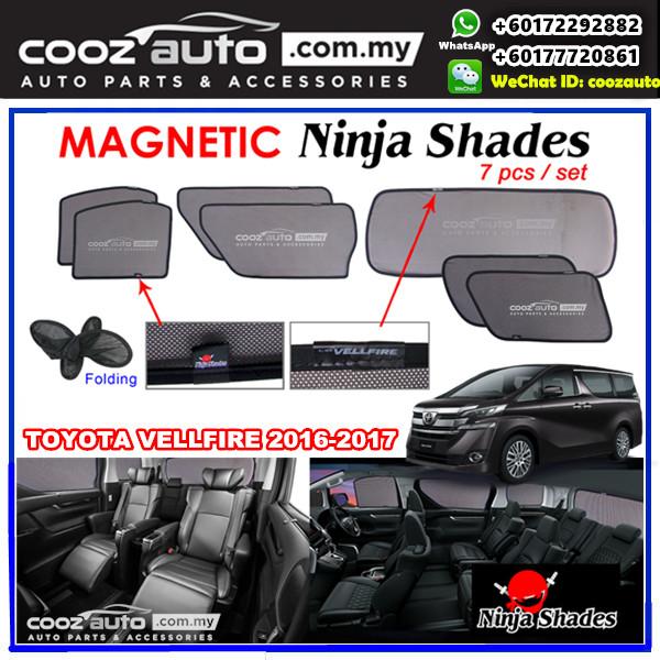 Toyota Vellfire ANH30 2016-2017 Magnetic Ninja Sun Shade Sunshade (7pcs/set)