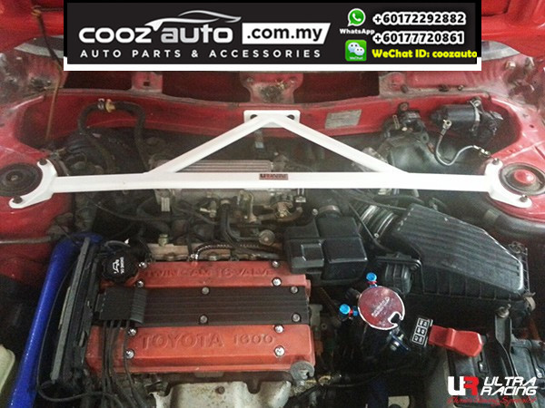 Toyota Corolla AE 92 Coupe 1.6 1987 Manual 2WD Ultra Racing Front Strut Bar / Front Tower Bar (3 Points)