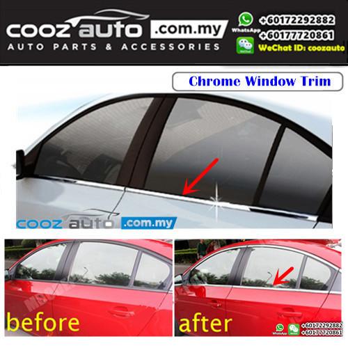Toyota Hilux Revo 2016-2017 Window Chrome Lining / Door Belt Moulding