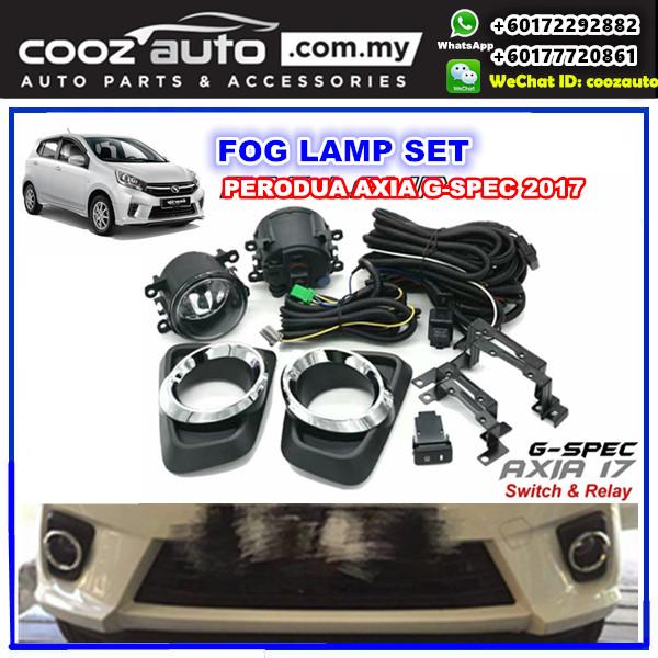 Perodua Axia G-SPEC 2017 2018 Front Fog lamp Fog light Foglamp