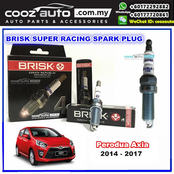 Perodua Axia 2014 - 2017 Brisk Super Racing Spark Plug