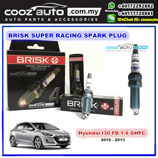 Hyundai I30 FD 1.6 G4FC 2010 - 2013 Brisk Super Racing Spark Plug