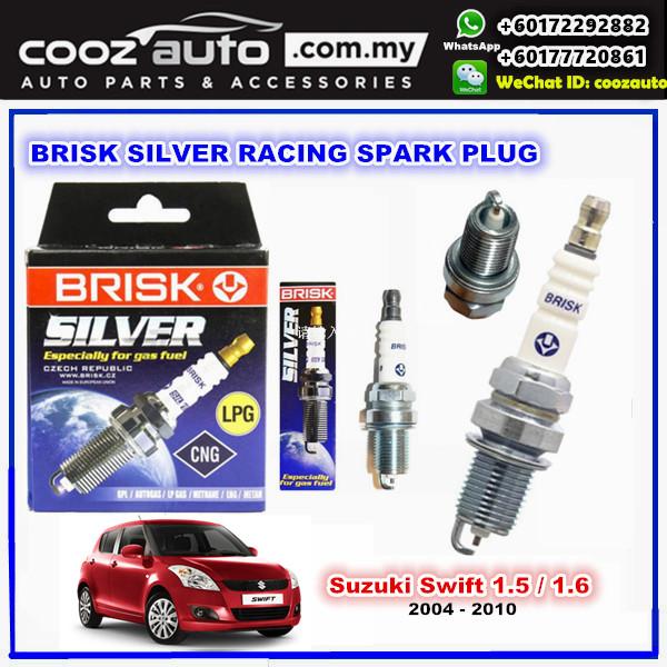 Suzuki Swift 1.5 / 1.6 2004 - 2010 Brisk Silver Racing Spark Plug